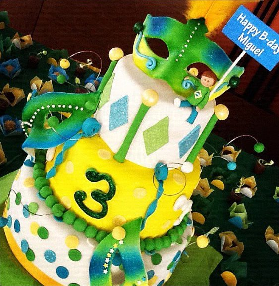 Tiered Carnaval Cake