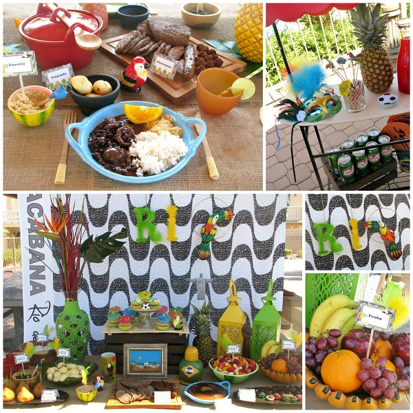 Rio-Themed Party with Cakes and Cupcakes