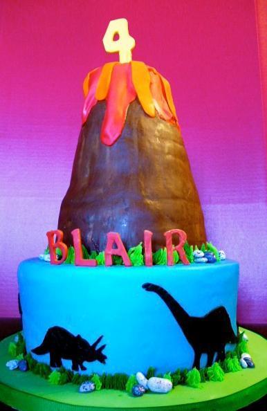 Volcano Dinosaur Cake on Bluprint.com