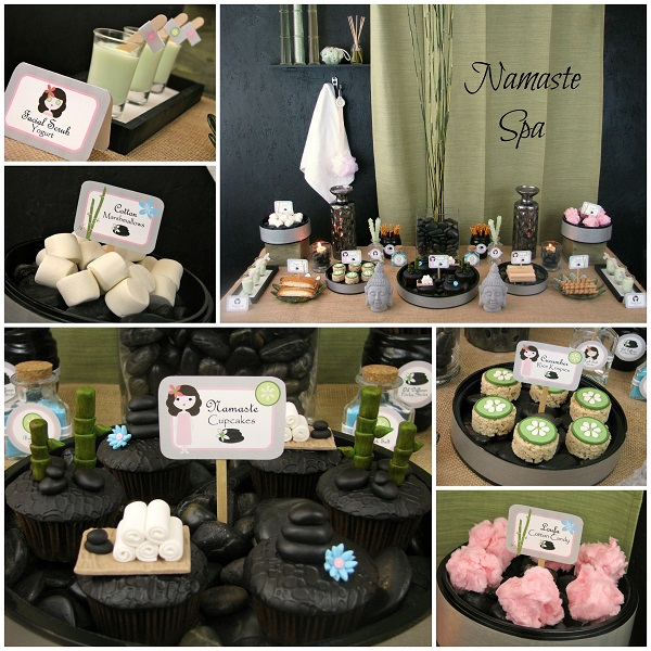 Spa Party: Cupcakes and Decorations