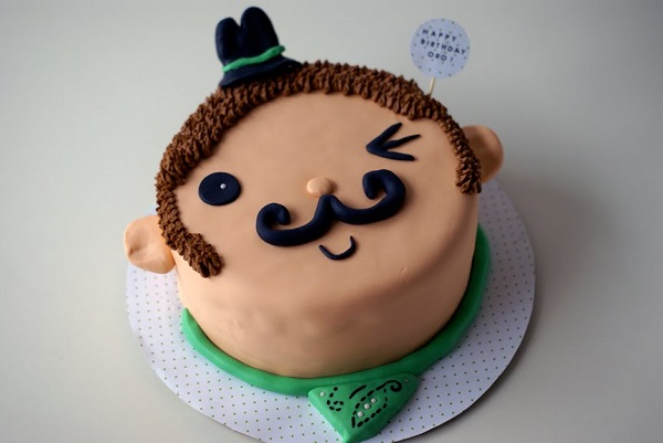 Mustached Cowboy Cake