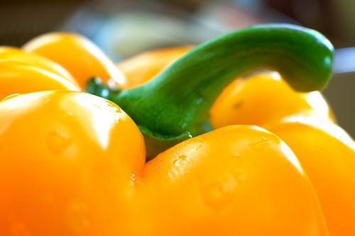Closeup Shot of Yellow Pepper