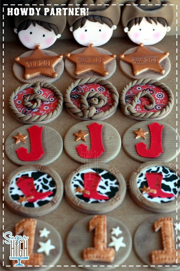 Fondant Wester Cupcake Toppers