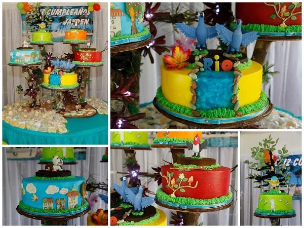Rio-Themed Cake Tower - Bluprint