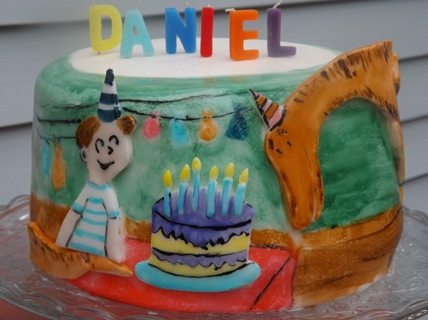 Hand Painted Dino Cake - Bluprint.com