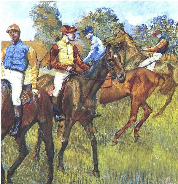 Degas - Rennpferde