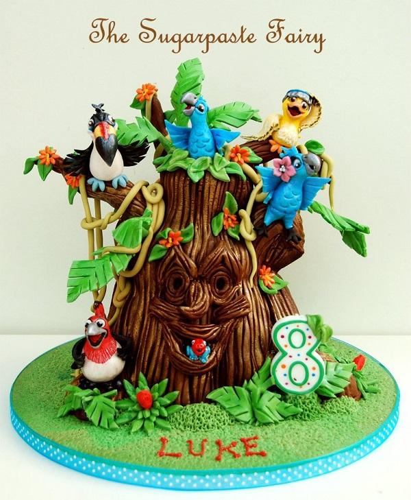 Sculpted Jungle Rio Cake