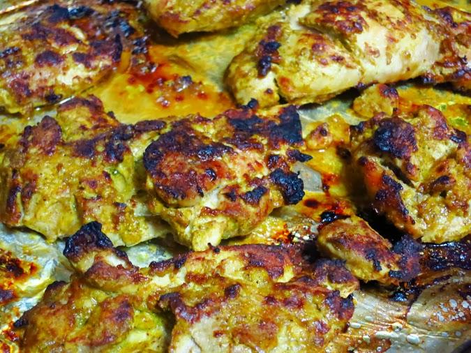 Broiled chicken for tikka masala
