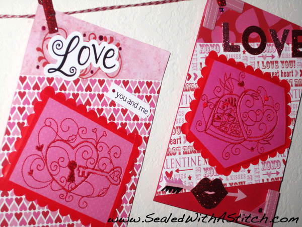Embroidered Valentine's Cards - Tutorial on Craftsy