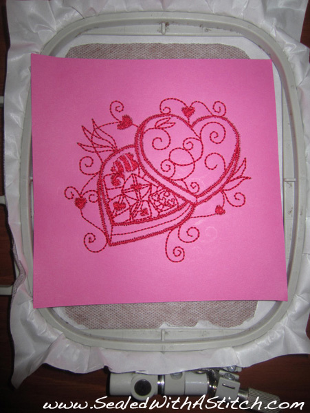 Card with Embroidery Design