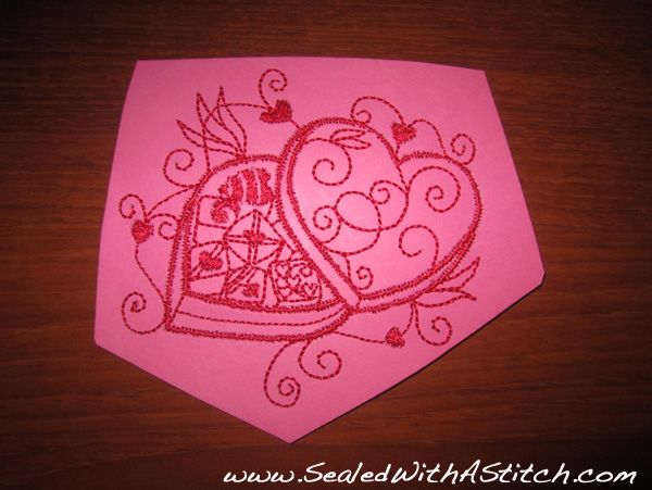 Embroidery Design on Cardstock