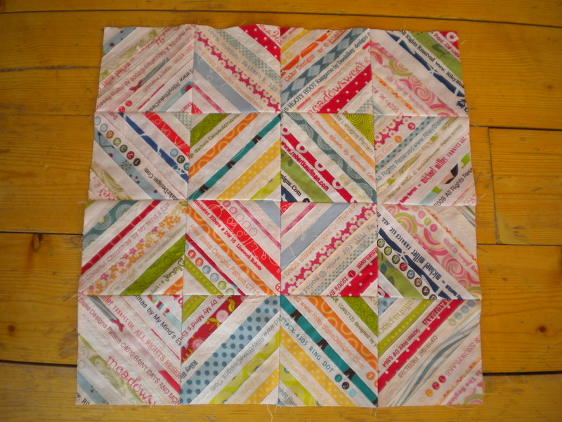 Quilt Made with Selvedges