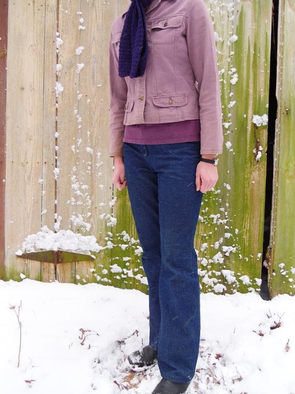 Woman in Wintery Jeans