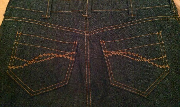 Embroidered Jeans Pockets