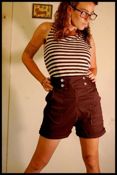 High Waist Shorts with Pockets
