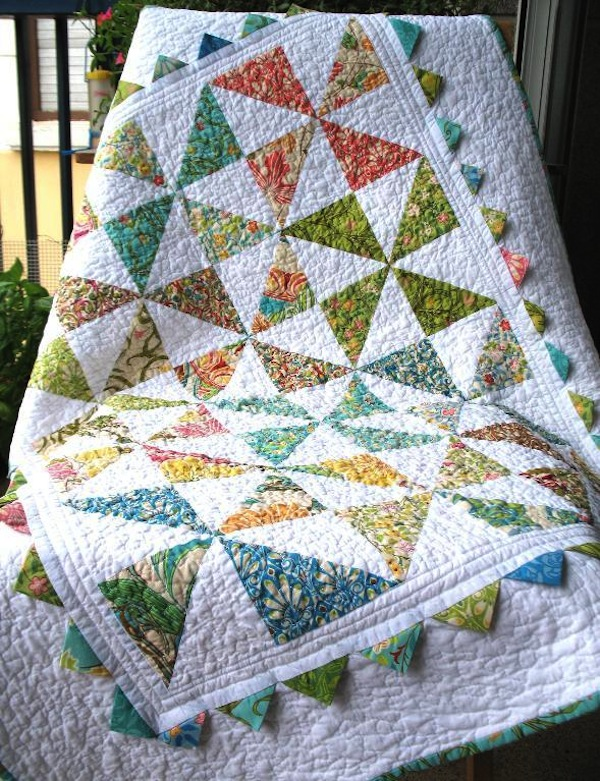 Quilt Featuring Prarie Points