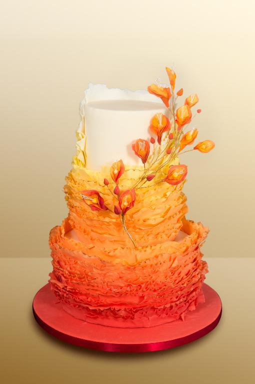 Ruffled Orange Cake - Bluprint Member Project