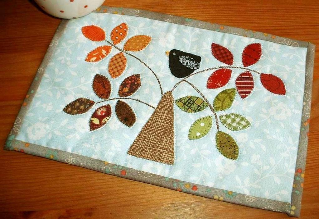 Seasonal Tree Mug Rug Pattern - available on Bluprint
