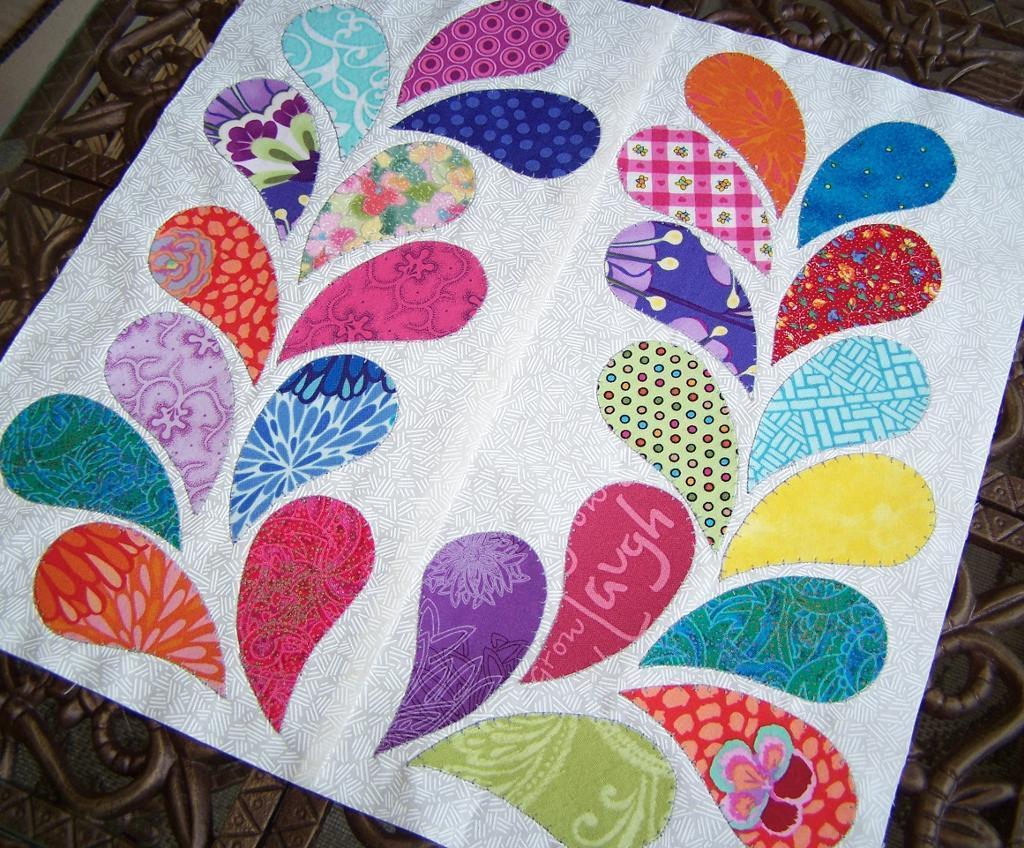 Colorful Paisley Leaf Quilt