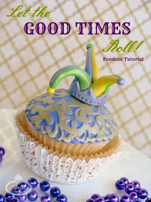 Title Image: Mardi Gras Cupcake Design Tutorial