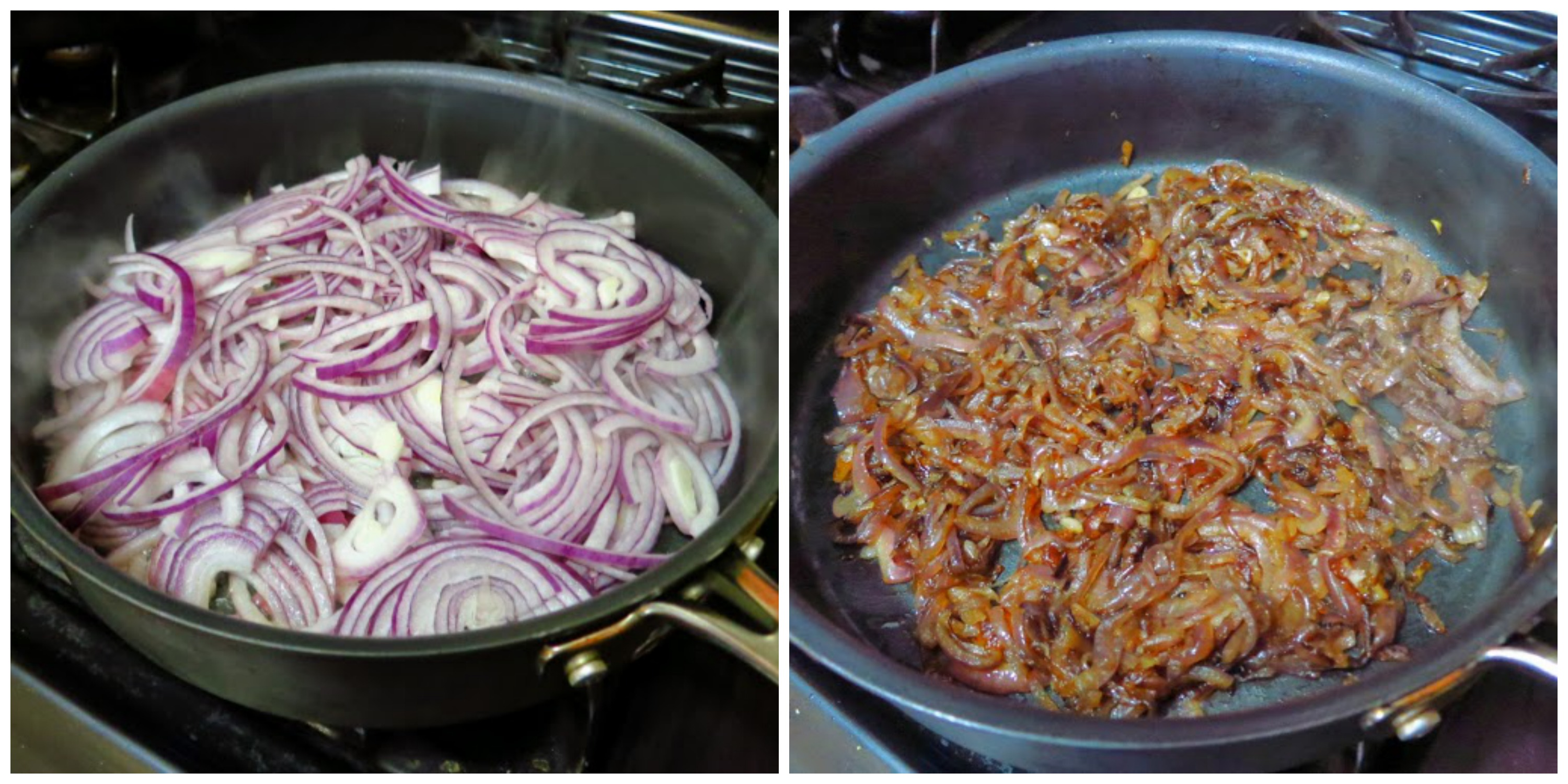 Caramelized Onions Before and After