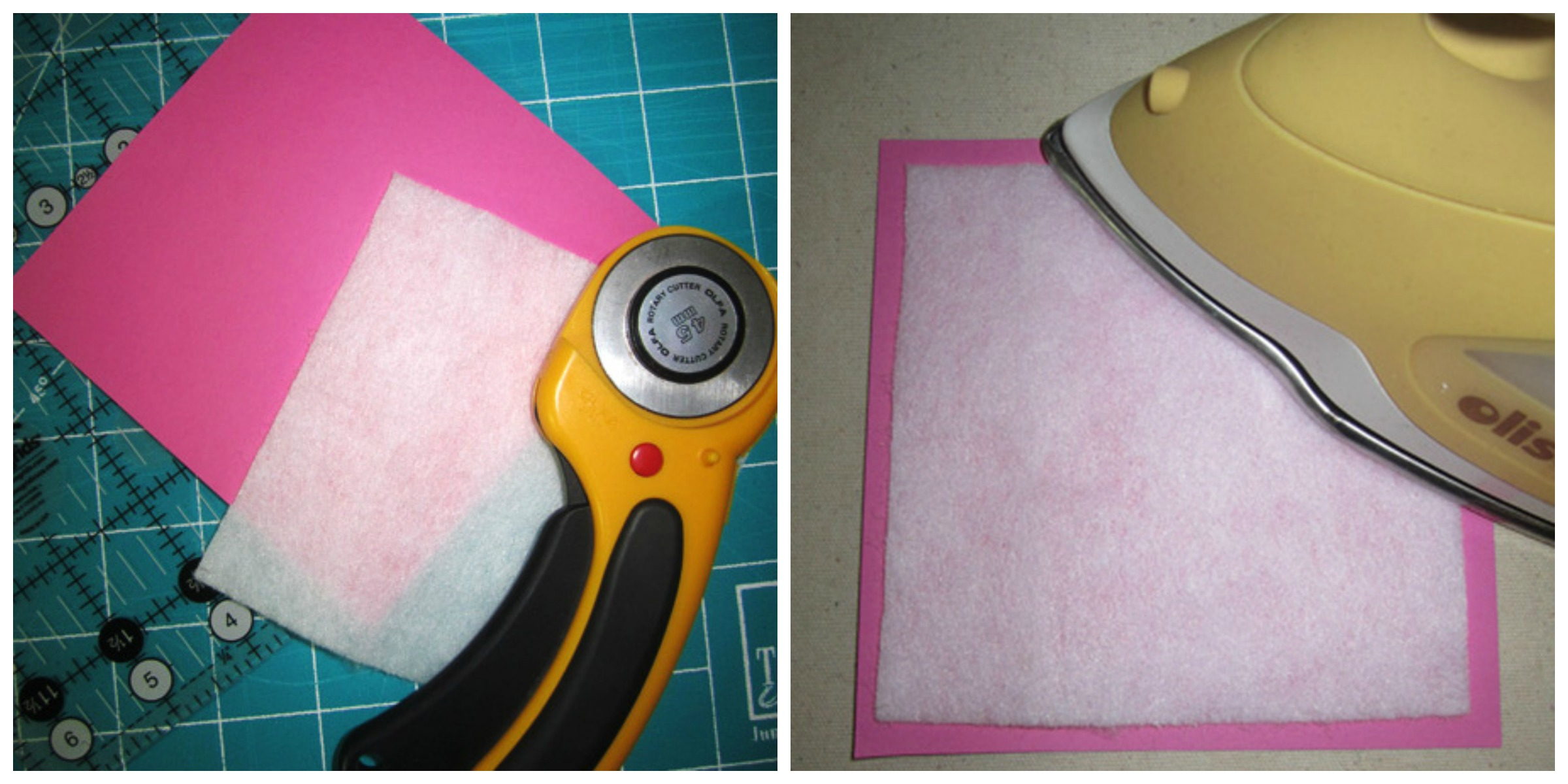 Pressing the Fusible onto Paper