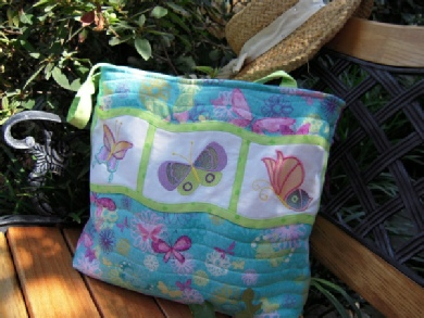 Butterfly Bling tote via Sew Inspired