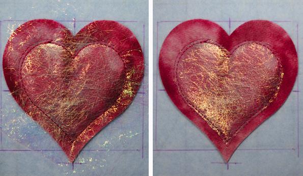 Adding Glitter to Heart