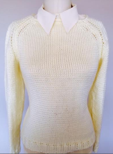 White Knit Sweater by Bluprint Member Miss Cara