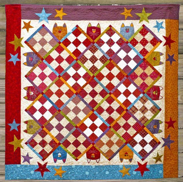 Patched Cat Quilt - Craftsy Member Pattern