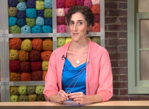 Patty Lyons Shows off a Knitting Pin