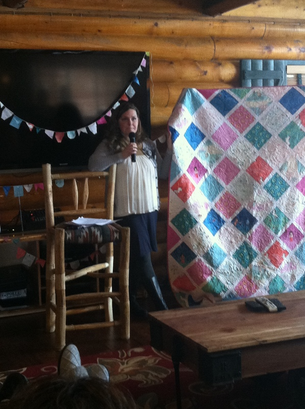 Woman at the Utah Mountain Quilt Retreat