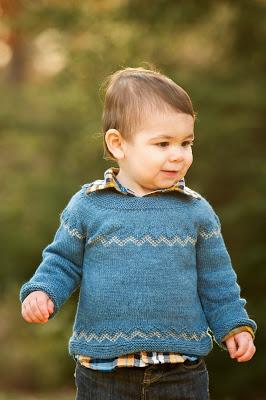 Little Boy in Blue Sweater