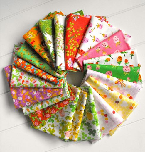 Circle of Colorful Fabrics