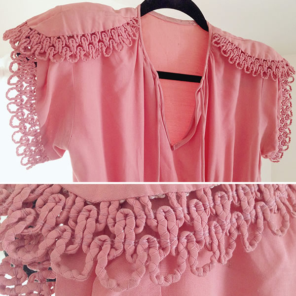 Cording Used on a Pink Blouse