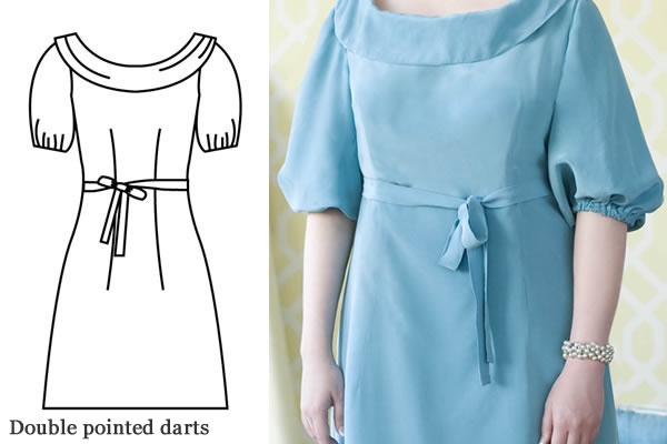 Double-Pointed Darts on Dress