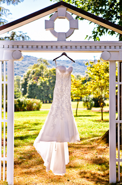 Wedding Dress Hanging - Photographing a Wedding Dress