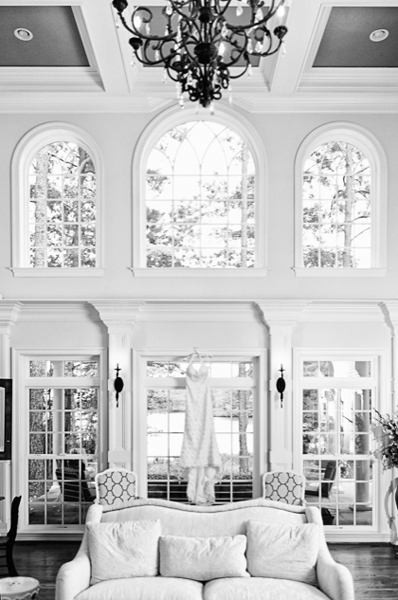 Wedding Dress Shot in a Large Room