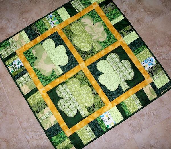 Shamrocks St.Patrick's Day Quilt, Pattern on Bluprint.com