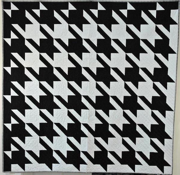 Black and White Houndstooth Quilt Pattern