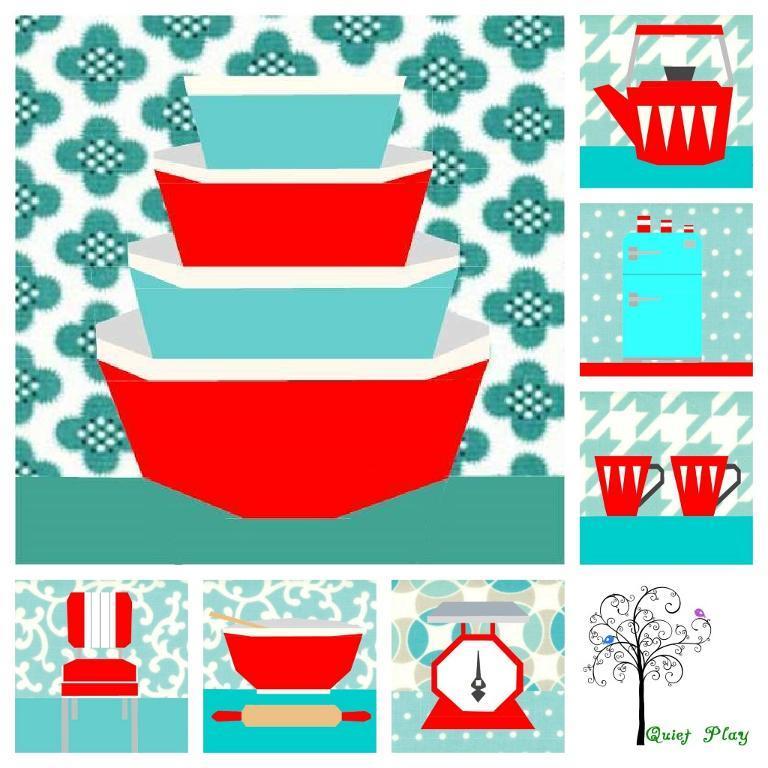Quilt Pattern: Retro Themed Kitchen Quilt