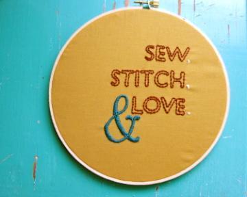 Sew, Stitch & Love Embroidery - Pattern Free on Bluprint