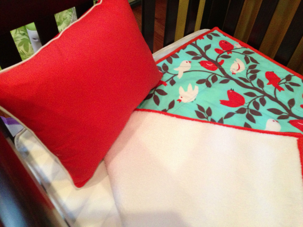 Red and Blue Crib Bedding
