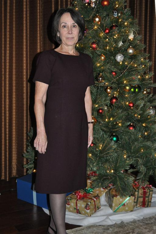 Craftsy Member Wearing Homemade Wool Dress