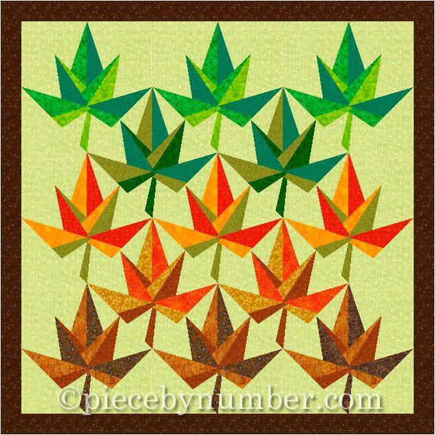 Maple Leaf Paper Piece Quilt - Pattern on Bluprint