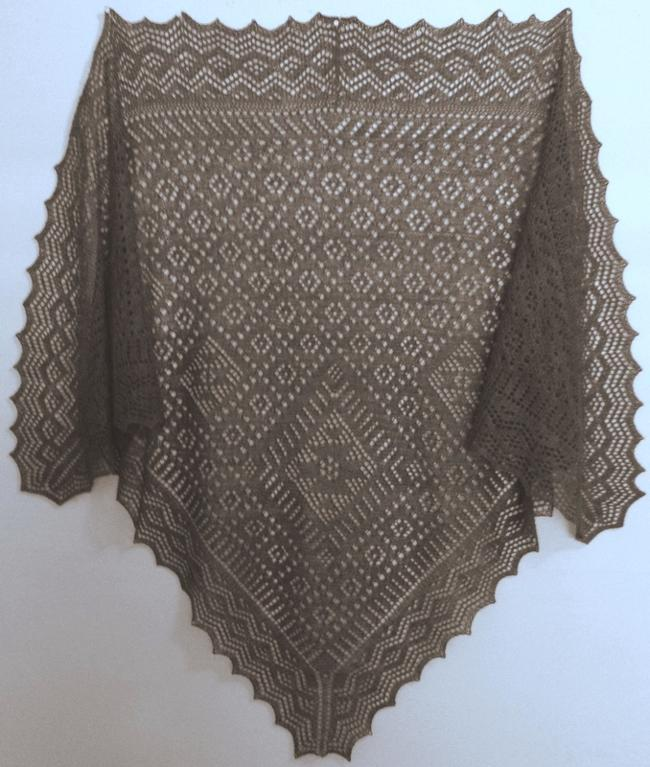 Russian triangular Orenburg shawl
