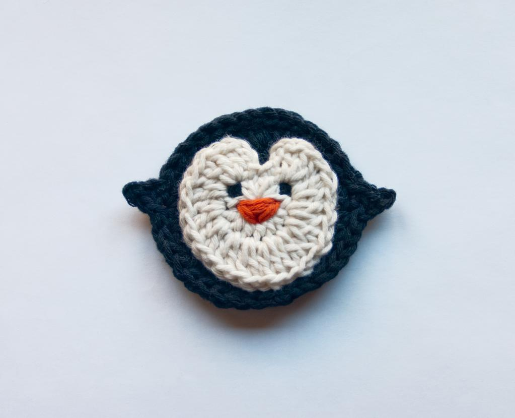 Penguin crochet applique - Bluprint Member Pattern