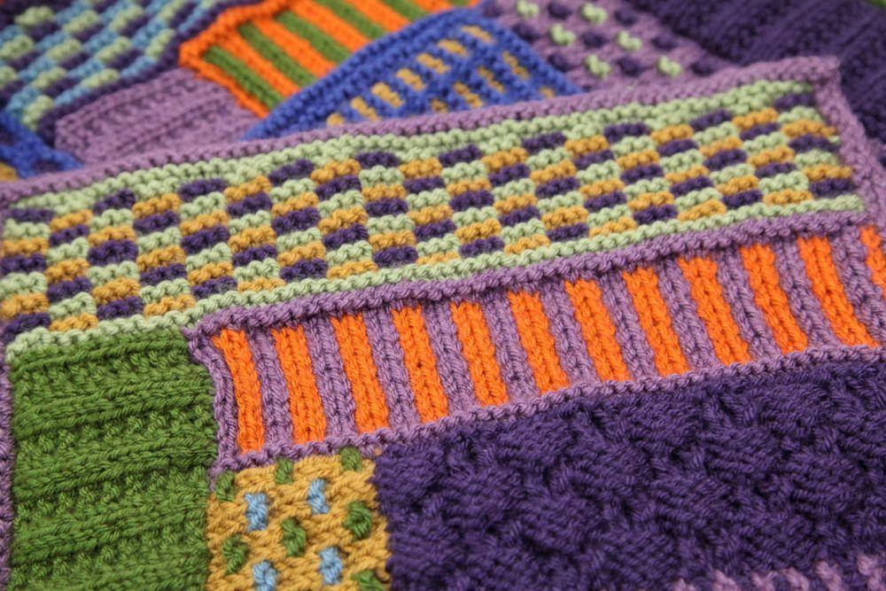 Slip stitch knit afghan on Bluprint.com