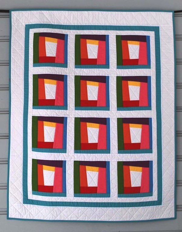 Rainbow Modern Quilt - Pattern on Bluprint