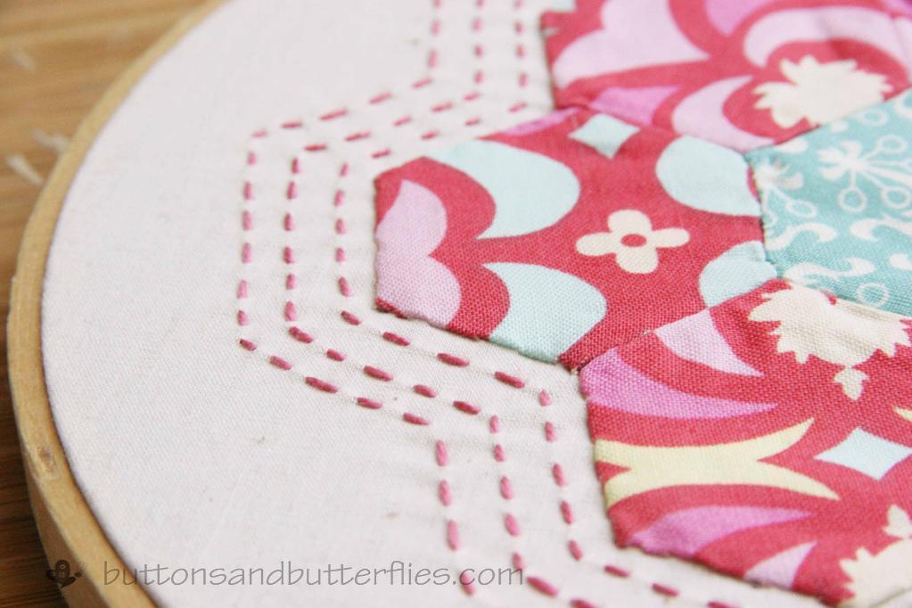 Hexie Hoop - Free Quilting Pattern on Bluprint